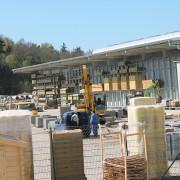 Neubau Baustoff-Lagerhalle in Luschendorf (Stand April 2014)
