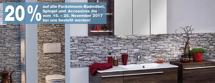 Fackelmann-Badmöbel-Aktion