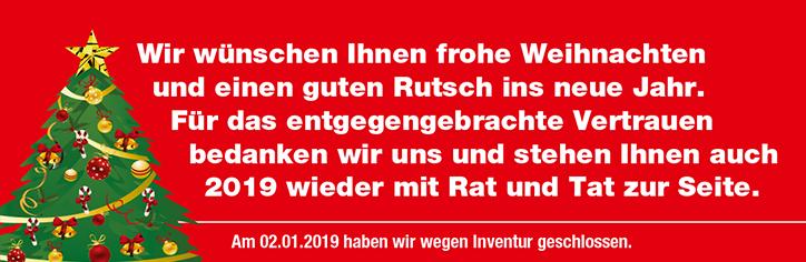 Frohe Weihnachten und einen guten Rutsch ins Jahr 2019! - Carl ...