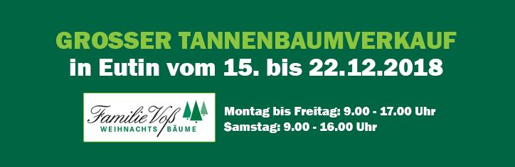 Großer Tannenbaumverkauf in Eutin ab 15.12.2018